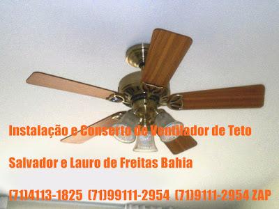 Cuidados na instalação de ventilador de teo