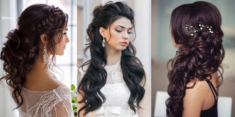Bridal Hairstyle Inspirations for Dark Hair!