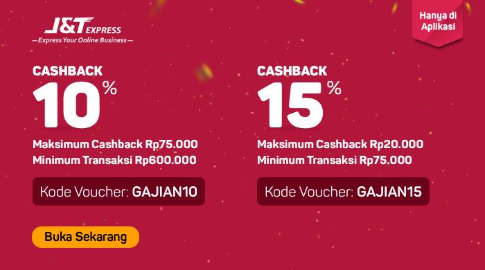 Bukalapak - Voucher Promo Diskon + Caschback 10% & 15% Pakai J&T (s.d 31 Agustus 2018)
