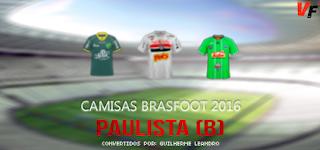 Camisas do Paulistão Série B - Brasfoot 2016