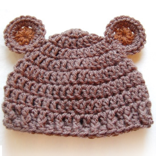 Newborn Baby Bear Hat - Free Pattern