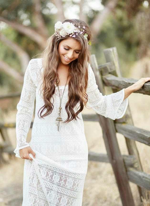 Fotografías e ideas para peinados de boda de novias con pelo largo