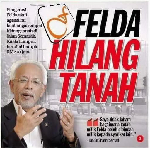 Image result for Gambar Felda tergadai