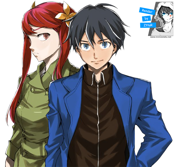 Render Hoshimija Eiji & Kurenai Rin