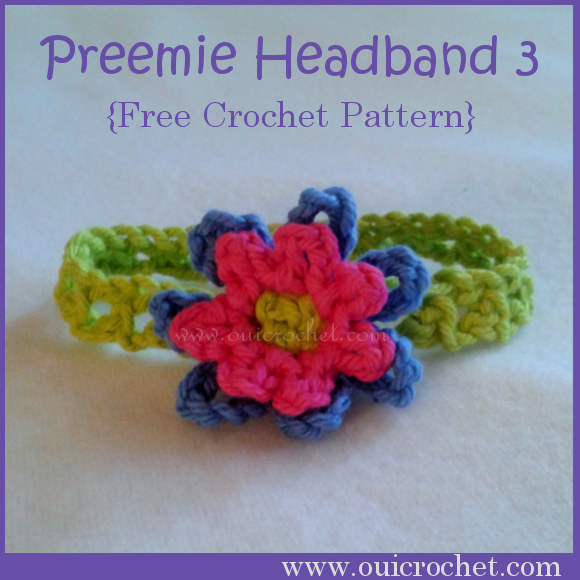 Crochet, Crochet for Charity, Crochet for NICU Babies, Crochet for Preemies, Crochet Headband, Crochet Preemie Headband, Free Crochet Pattern