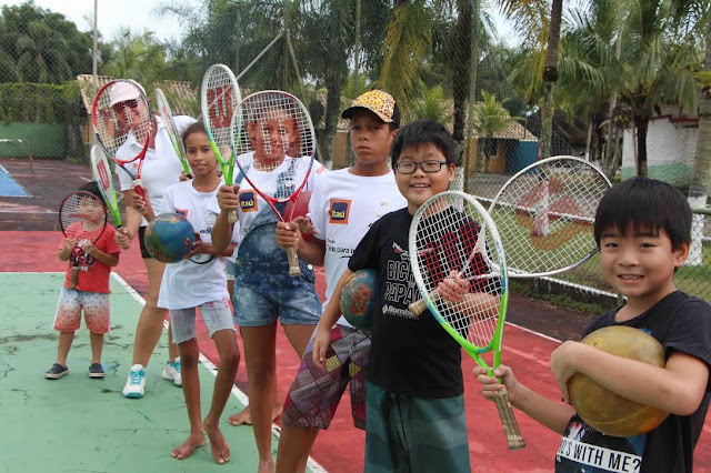 Circuito tênis percorreu as escolas da Ilha Comprida