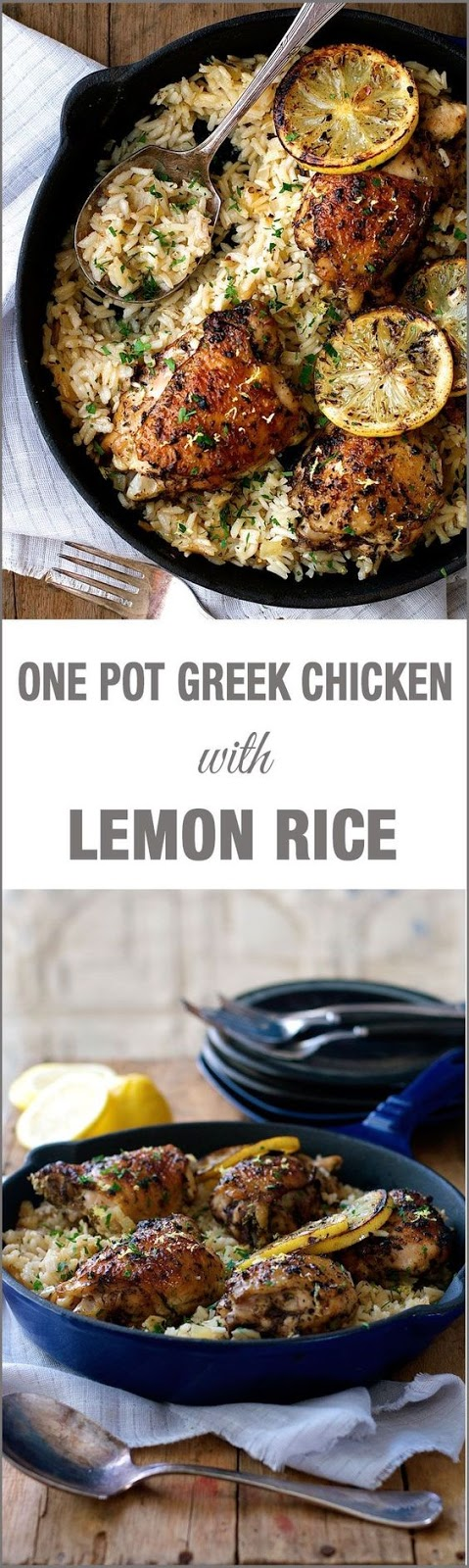 One Pot Greek Chicken & Lemon Rice