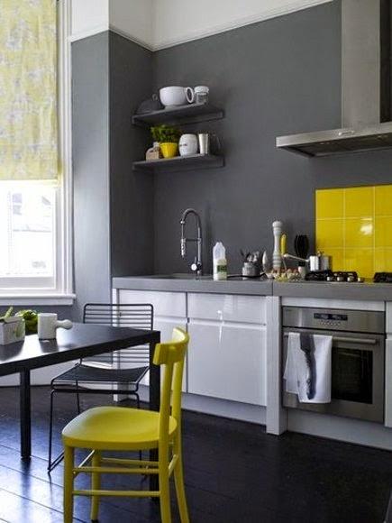 Inspiracje W Moim Mieszkaniu żółta Cytrynowa Kuchnia