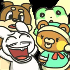Rabbit & Squirrel & Bear & Frog
