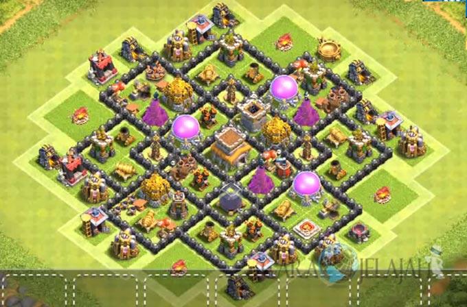 Base Hybrid TH 8 Clash Of Clans Terbaru Tipe 7