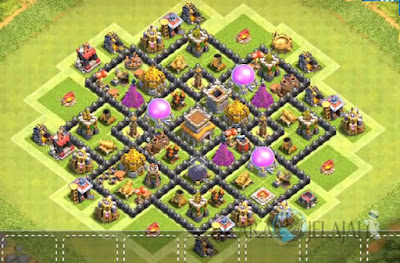 Base Hybrid TH 8 Clash Of Clans Terbaru Tipe 7