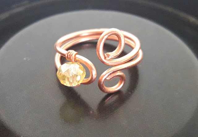 Copper Jewelry, Copper Rings, Copper Wire Bead Rings
