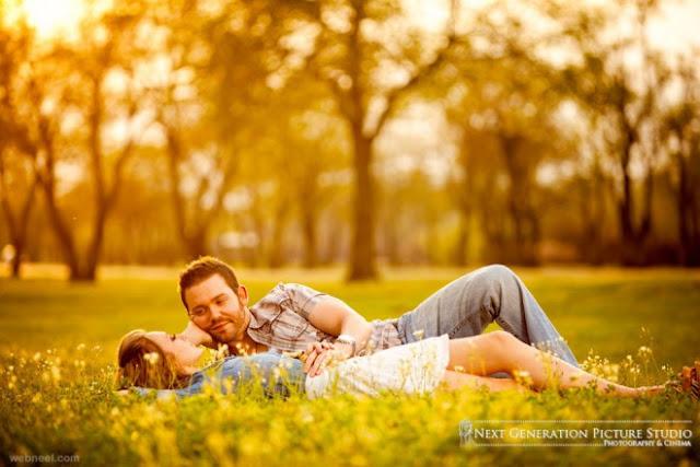 خلفية حب زوجين