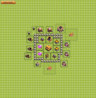 Base Clash of Clans Terbaik TH 3 trophy