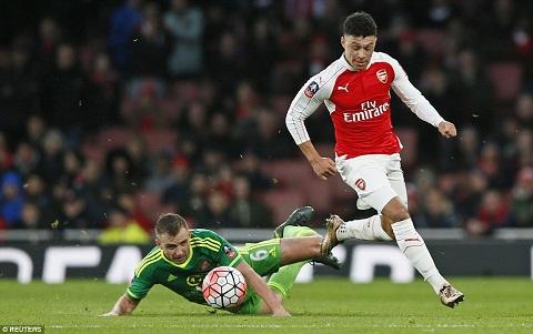 Tiền vệ Oxlade Chamberlain hiện đang chơi cho Arsenal