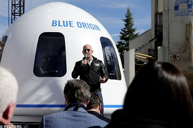 √ Bezos Is Dorsum To Mask? Bluish Rootage Is Called 2019 To Post People To Space