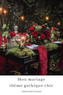 inspirations et idées pour un mariage thème gothique chic blog mariage unjourmonprinceviendra26.com