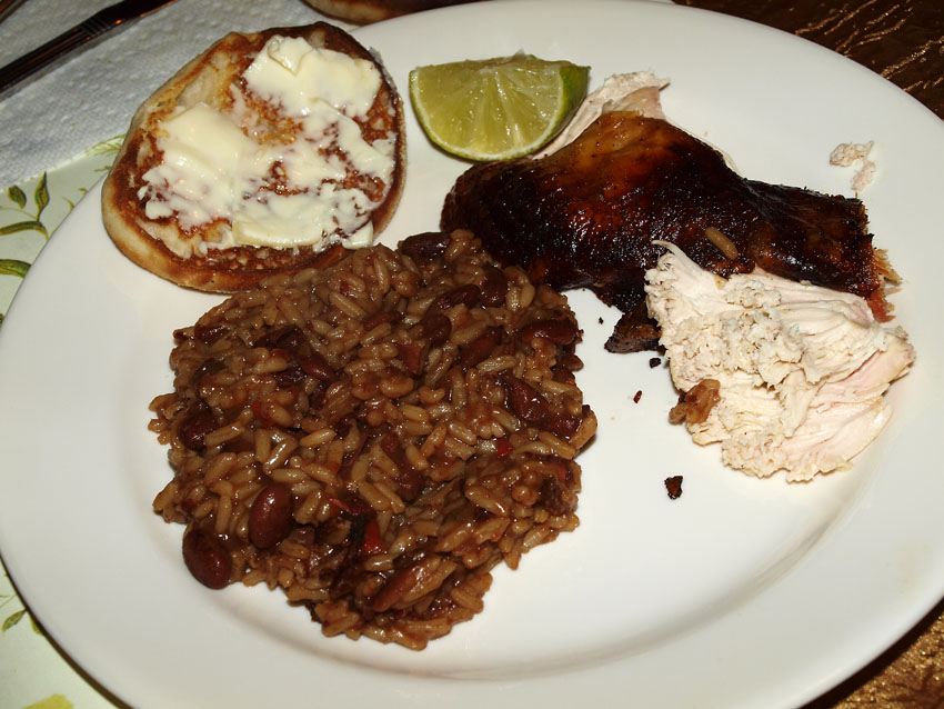 Pellet Smoker Cooking: Cuban Chicken with Red Beans and Rice