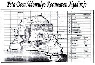 Peta Desa Sidomulyo Ngadirojo Pacitan