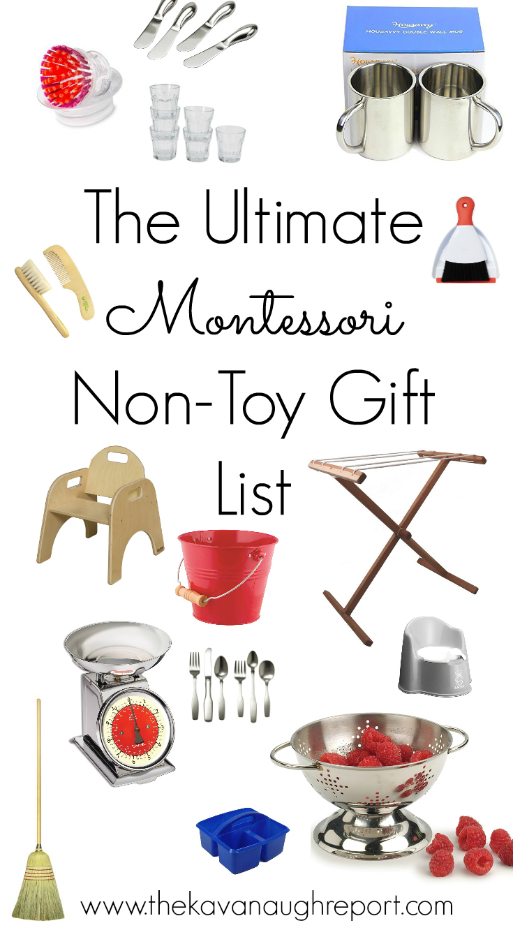 montessori non toy gift guide practical items for montessori homes and families