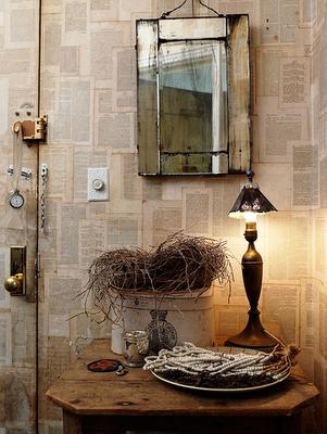 Decoraxpoco papel de periodico - Libros decoracion de interiores ...