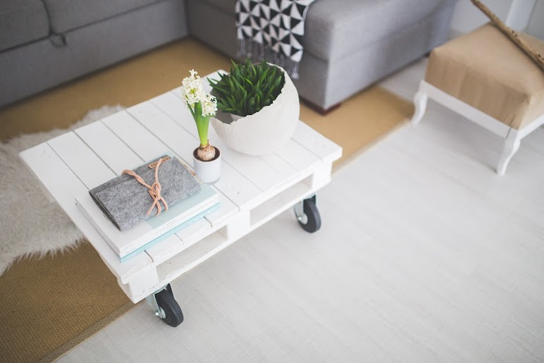 Clean Decoration Home Little White Coffee Table