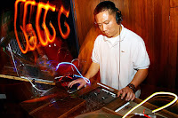 DJ mixing in a nightclub