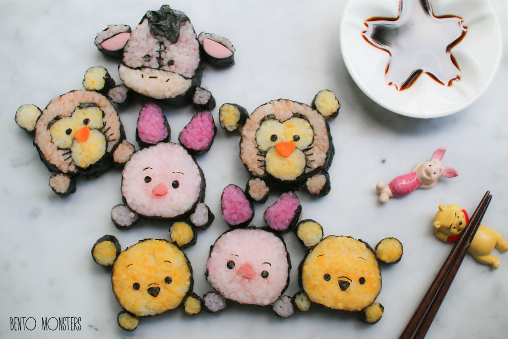 13-Tsum-Tsum-Deco-Sushi-Li-Ming-Lee-Kyaraben-Bento-Monsters-Themed-Lunch-Art-www-designstack-co