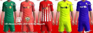 PES 2013 UD Almeria Kits 2016-17 By Migue14