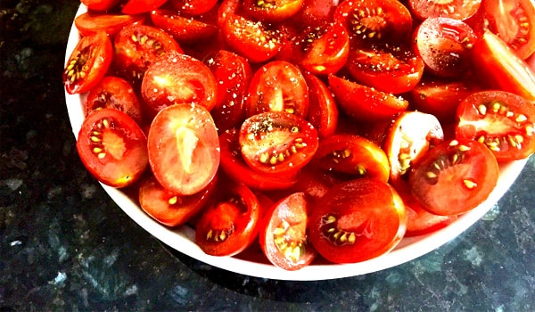 Tomato Sauce - Trim and Chop the Tomatoes