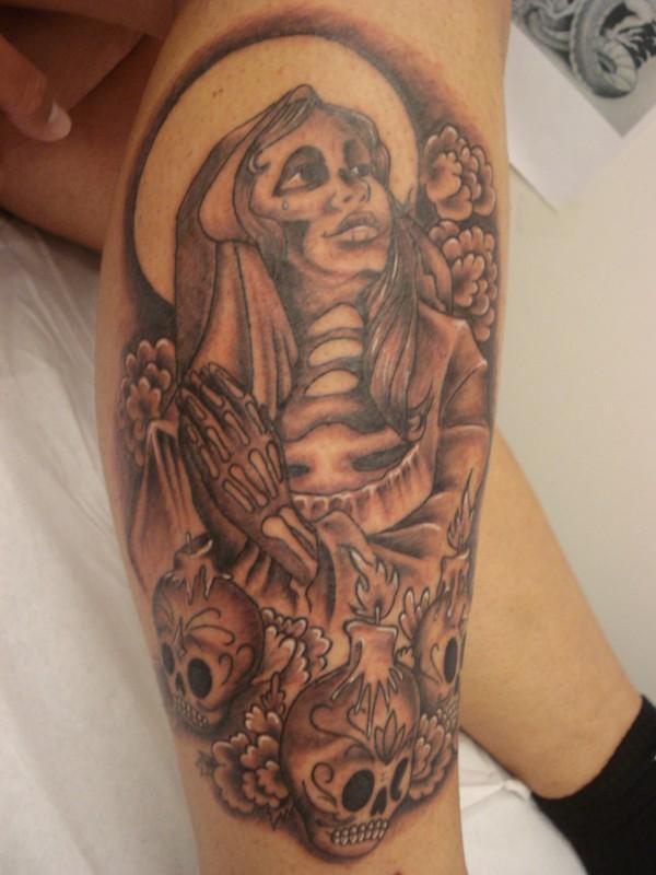 Santa Muerte Tattoo Vorlagen