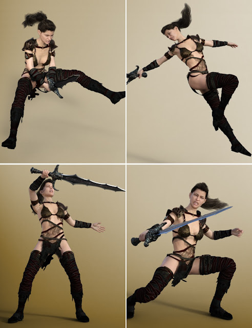 One Weapon: Poses for Genesis 8 Female and Victoria 8