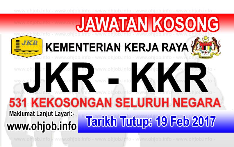 Jawatan Kerja Kosong Terkini KKR - Kementerian Kerja Raya logo www.ohjob.info februari 2017