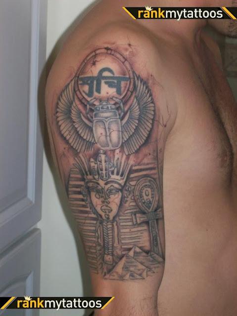 Egipcio Tatuagem Meia Manga