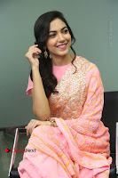 Actress Ritu Varma Pos in Beautiful Pink Anarkali Dress at at Keshava Movie Interview .COM 0242.JPG