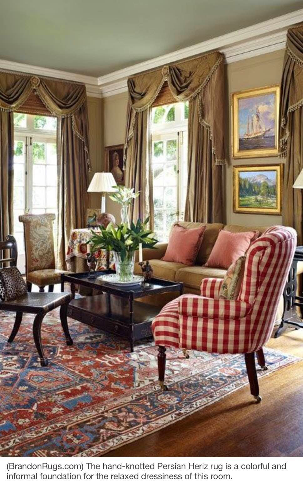 More Home Decor Ideas Using Real Hand Knotted Oriental Rugs Rooms Built Around Persian Heriz Design PHOTOS