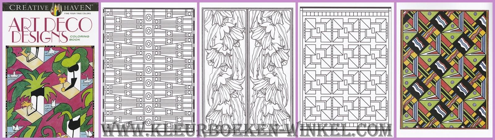 kleurboek art deco designs