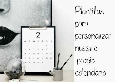 Plantillas de Calendarios para Editarlos nosotros mismos