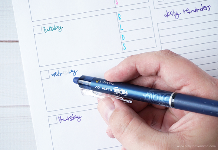 Free Printable Monthly and Weekly Planner! #PowerToThePen #PilotYourLife