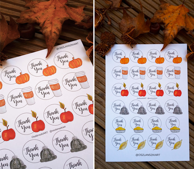 Thank You printable stickers sheet