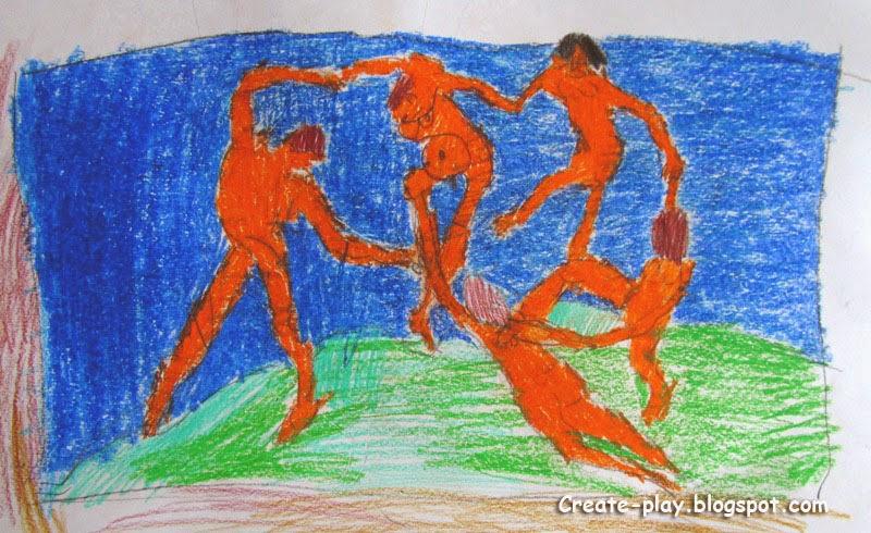 Танец Матисс детский рисунок