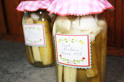 Homemade Crock Pickles