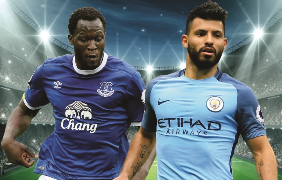 Manchester City will look to make up some ground on the teams above them when they face Everton.