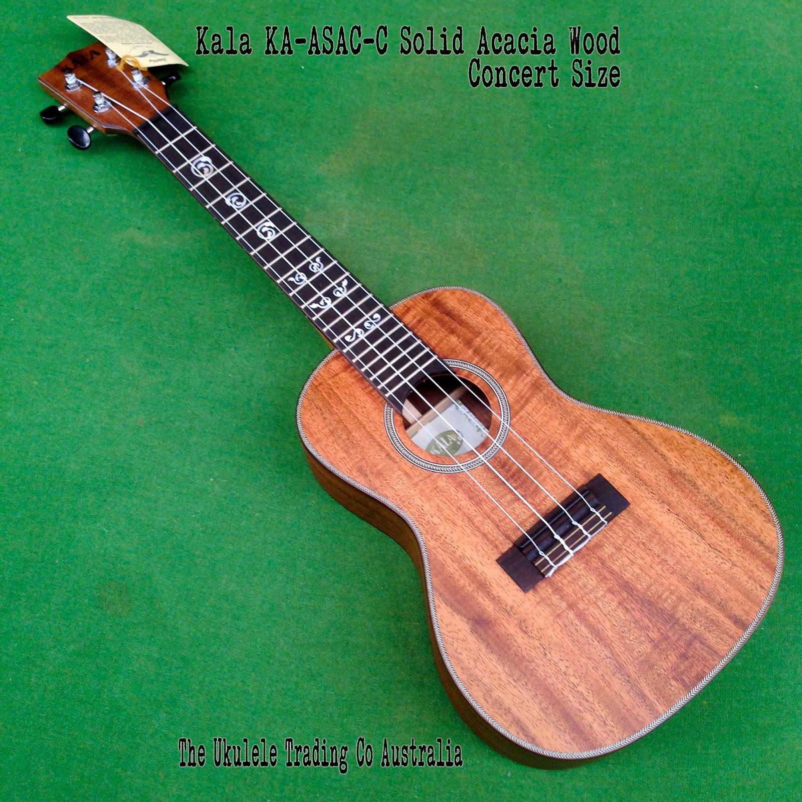 Kala KA-ASAC-C Solid Acacia Wood Concert Size ukulele, It's