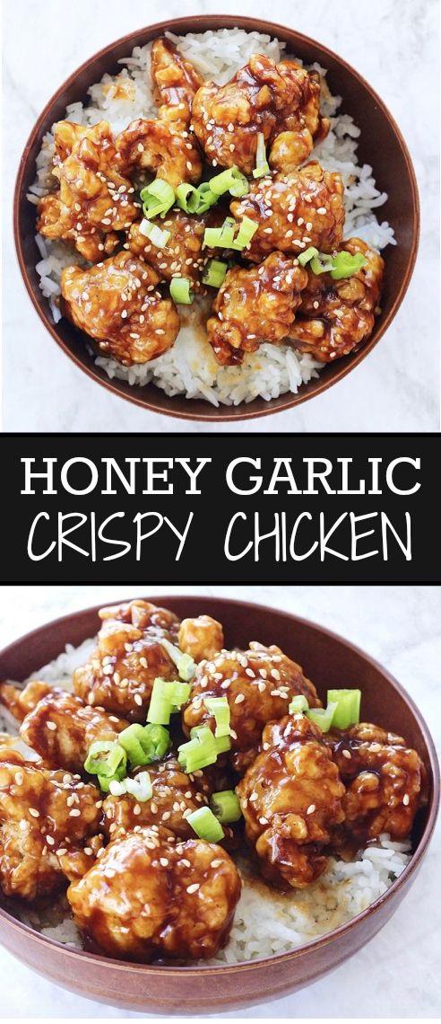 Honey Garlic Crispy Chicken