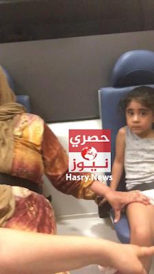 لي لي حفيدة اللواء مدحت محمد الدولجي وهي في سيارة الاسعاف مع جدتها