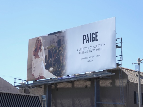Paige Summer 2017 fashion billboard