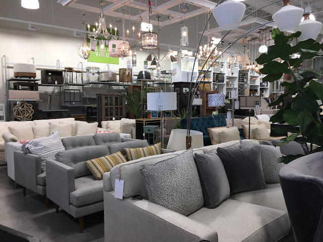 Furniture and Lighting in Homesense store