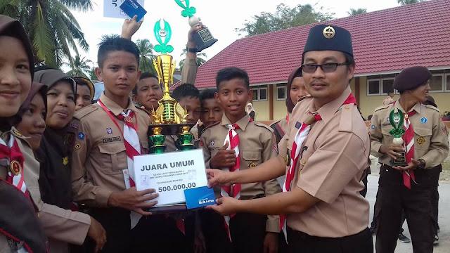 MTsN Kampung Dalam Raih Trophy Gilang Pramuka SMK Global