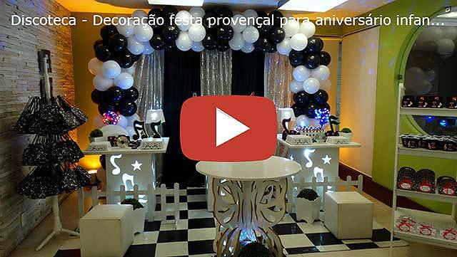 Vídeo festa de aniversário Discoteca